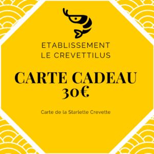 Carte 30 € «Starlette Crevette»