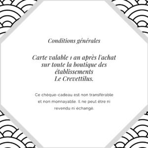 Carte 10€ «Chouette Crevette»