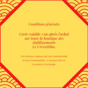 Carte 70 € «Crevette Cosmique»